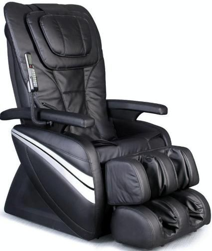 Osaki OS-1000A Deluxe Massage Chair, Black, Synthetic Leather, 5 easy to use preset auto program, Delivers a powerful and realistic full body, seat & leg massage, 4 Massage Types: Kneading & Tapping, Kneading, Tapping and Rolling, Intelligent 4 roller system, Manual speed control of the massage, 3 different width settings, UPC 045635065000 (OS1000A OS 1000A OS-1000 OS1000)