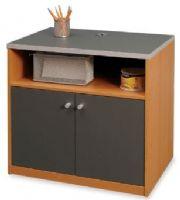 Ou0027Sullivan 11864 Norwegian Alder Venetian Slat Storage Office, HOrizon  Collection, Storage Cabinet