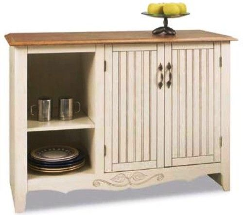Beau Ou0027Sullivan 30160 Kitchen Workcenter, French Gardens Collection, Finished In  A Charming Odessa Pine Planked Cherry Laminate, Convenient Open Storage  Area ...
