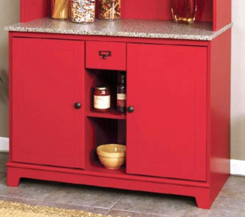 O39sullivan 30341 heritage red dining buffet litchfield for O sullivan kitchen furniture