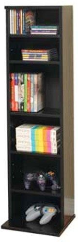 O 39 Sullivan 40545 Cd Media Tower Electronic Furniture Collection Finished In Black Laminates
