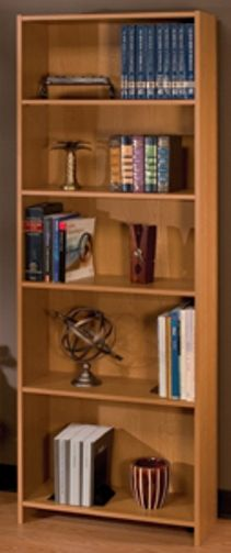 O Sullivan 41271 Bookcase Five Shelf Essentials Collection Finished In Norwegian Alder Juno Laminates Osu41271