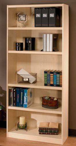 O Sullivan 41282 Bookcase Five Shelf Atwood Collection Finished In White Maple Laminates Osu41282 Osu