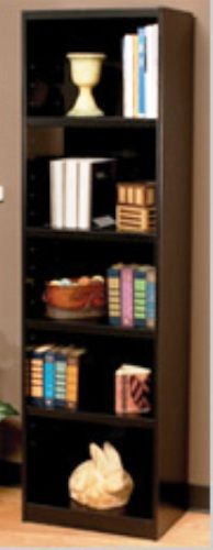 O Sullivan 41483 Sliline Bookcase Five Shelf Atwood Collection Finished In Vogue Cherry Laminates Osu41483