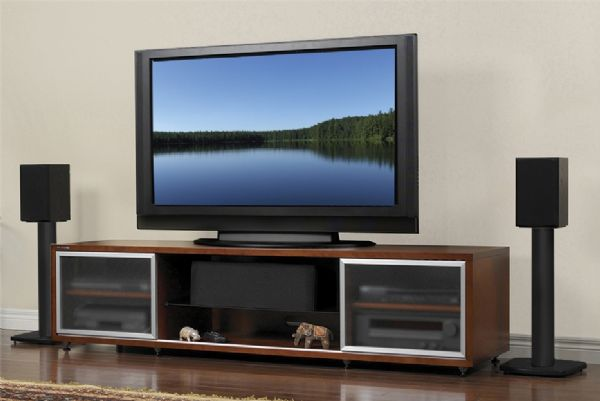 Incroyable Plateau 758019000589 Model SR V75 C Enclosed Cabinet Audio/Video Stand SR  Series, Cherry Wood Finish, 75u0027u0027 TV Weight Capacity, Designed To  Incorporate Many ...