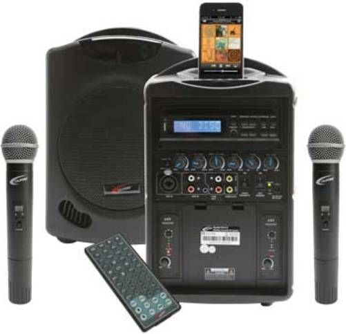 Califone PA419Q2 iPod Wireless Portable PA System with Two Q319 Wireless  Microphone 3b584944a1229