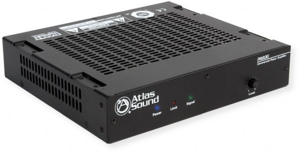 Atlas Sound PA60G Single Channel, 60 Watt Power amplifier with global power supply; Black; Small and compact, and engineered for efficiency and reliability; The perfect choice for paging or background music (BGM) systems; For any applications where distributed audio is required; 60W into 70.7 Volt, 100 Volt; UPC 612079187089 (PA60G PA60-G ATLASPA60G ATLAS-PA60G AMPPA60G AMP-PA60G)