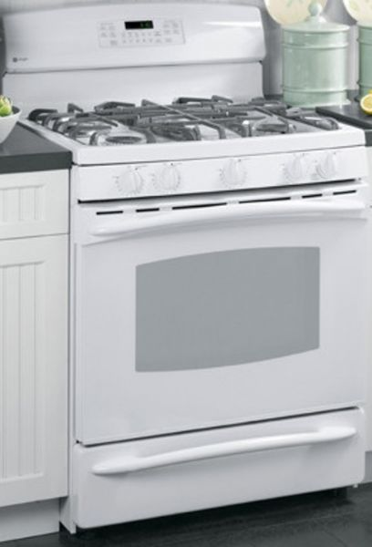 Ge General Electric Pgb908demww Gas Range With 5 Sealed Burners  0 Cu Ft Upper Oven Capacity Self Clean Oven Cleaning Sealed Cooktop Burners