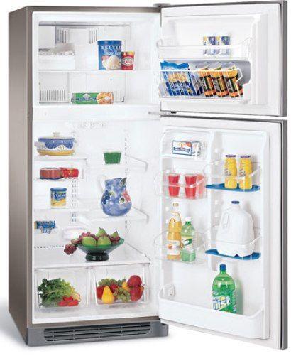 Ft. Top Freezer Refrigerator, Stainless Steel, UltraSoft Stainless Steel  Doors, Stainless Steel Handles, 1 Fixed White Door Bin, 2 Humidity  Controls, ...