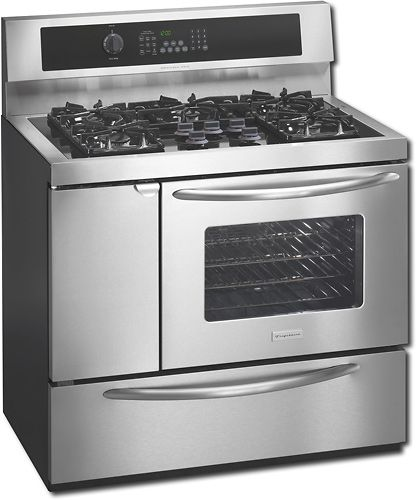 frigidaire plcf489gc professional series 40 inch freestanding dual fuel range with 5 sealed gas