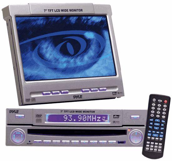 Motorized in dash monitor w dvd cd player radio amp tv tuner combo