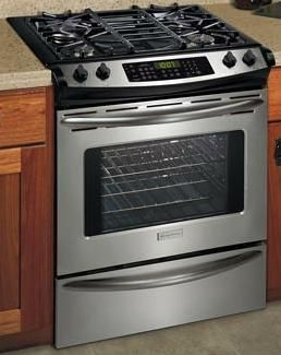 frigidaire plgs389ec full gas slidein range 42 cu ft allgas oven with - Slide In Gas Range