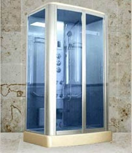 Wasauna PORTICO Blue Glass Steam Shower Room, 2 Persons Capacity, 4  Hydro Massage Jets, Ceiling Rain, A Movable Hand Shower, A Full Body Fog  Resistant ...