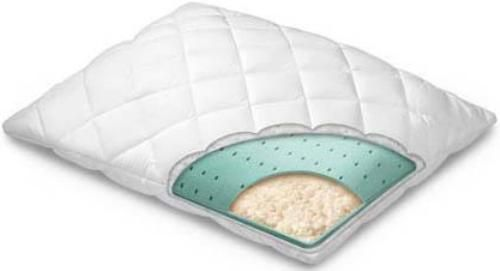 Homedics PRX-410 Pillow Rx Soothing Comfort Pillow, King Size, Hypoallergenic, synthetic, fiber ...