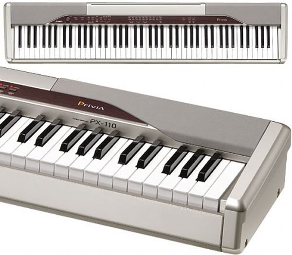 casio px 110 digital piano 11 tones 20 rhythms zpi tri element sound source 88 key scaled. Black Bedroom Furniture Sets. Home Design Ideas