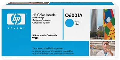 HP Hewlett Packard Q6001A LaserJet Cyan Print Cartridge with Smart Printing Technology, New Genuine Original OEM HP Brand (Q-6001A Q 6001A HEWQ6001A)