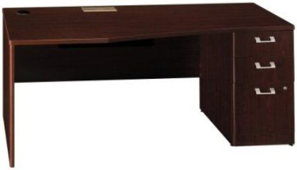 Bush Qt0746cs Quantum Harvest Cherry 72 Right Hand Desk And Pedestal 2 Box  Drawers For Office