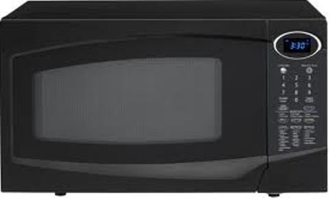 Sharp R 303tkc Countertop Microwave Oven 1 0 Cu Ft Capacity 100 Watts Output 12 7 8 Carousel Diameter 4 Digit Blue Led