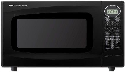 Sharp R306lk Microwave Oven With 1 100 Watts 18 Automatic Settings And 4 Digit Led