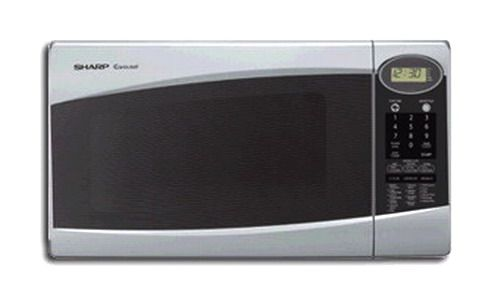 Sharp R 308js Microwave Oven 1 0 Cubic Foot 1100 Watts 4 Digit Lcd Display 12 5 8 Carousel Turntable Diameter Lighted 11 Levels