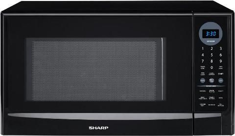 Ft Capacity 1 100 Watts Microwave Output 12 7 8 Turntable Diameter 4 Digit Blue Led Display 9 Sensor Cook Settings