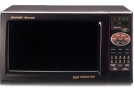 Sharp R 820bk Microwave Convection Oven 0 9 Cu Ft 900w