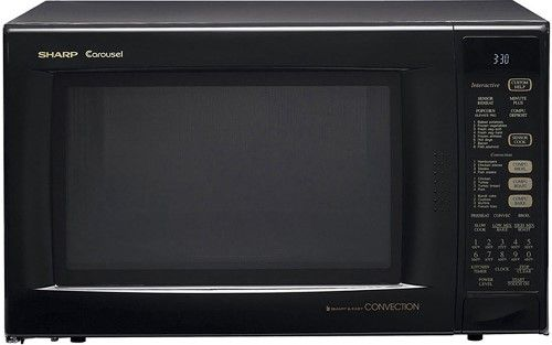 Sharp r 930ak refurbished countertop microwave oven black Microwave with stainless steel interior