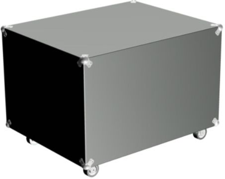 Barco R9852550 ATA/Flight Case Holds 2 XLM Lamps for R9010100, XLM H25 Projector (R98-52550 R98 52550 R-9852550)