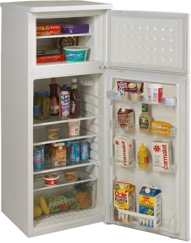 Avanti RA754WT Two Door Apartment Size Refrigerator, White, 7.5 Cu ...
