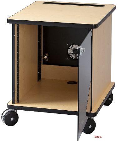 avf furniture. AVF Audio Visual Furniture International RACK12MPL Deluxe Mobile Rack Maple Avf