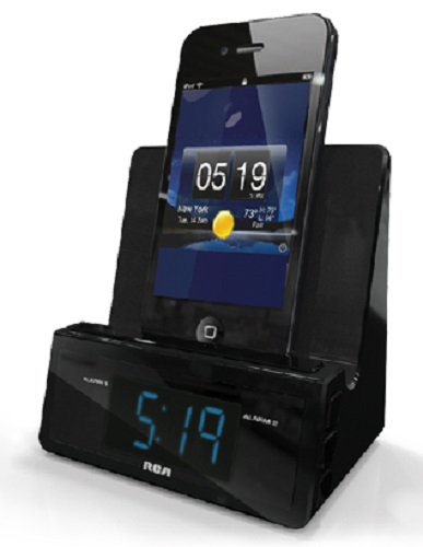 Rca Rcd215 Charging Stand Alarm Clock Vertically Or