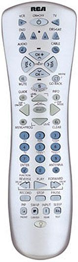 RCA RCU800MS Universal home theater remote control, Controls most brands of TV, VCR, DVD, DBS/SAT, Cable and Audio, Menu support; PIP functions: swap, move, and freeze; Features universal DBS and DVD codes (RCU800MSL RCU800 RCU800M 79000317111)