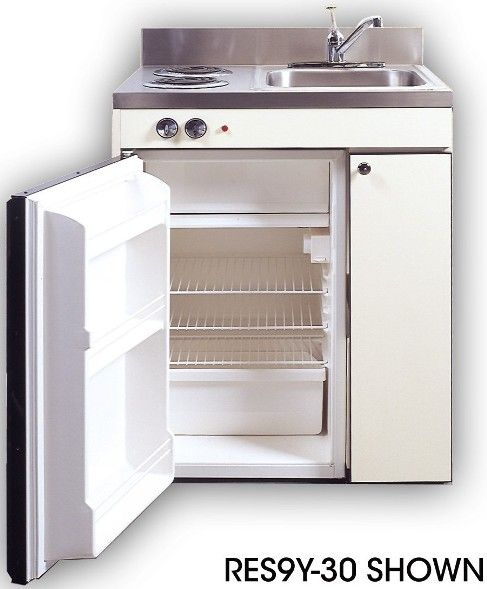 Acme Kitchenettes Res9y 30 Compact 30 Inch Kitchen With 2