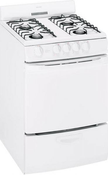 hotpoint rga720pkwh freestanding gas range with 4 open burners 20