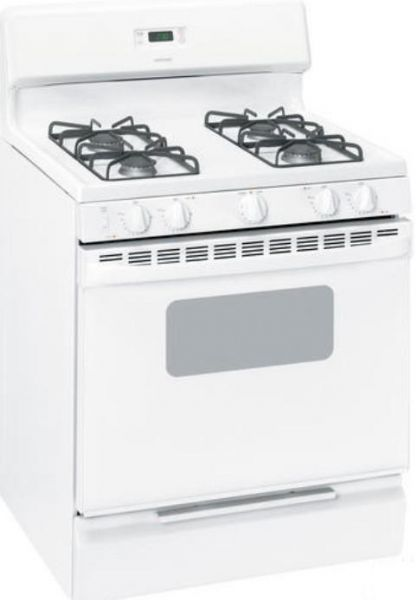 hotpoint rgb530depww freestanding gas range with 4 sealed burners