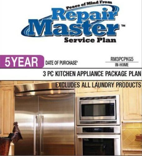 Repairmaster rm3pcpkg5 5 year 3 piece kitchen appliance - 3 piece kitchen appliance package ...