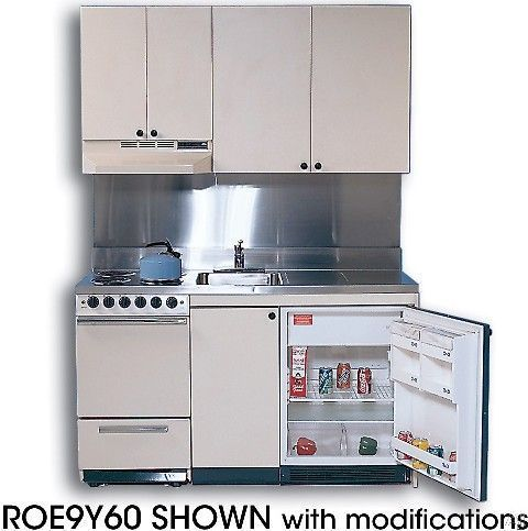 Acme Kitchenettes ROE9Y 69 Compact Kitchen with Stainless