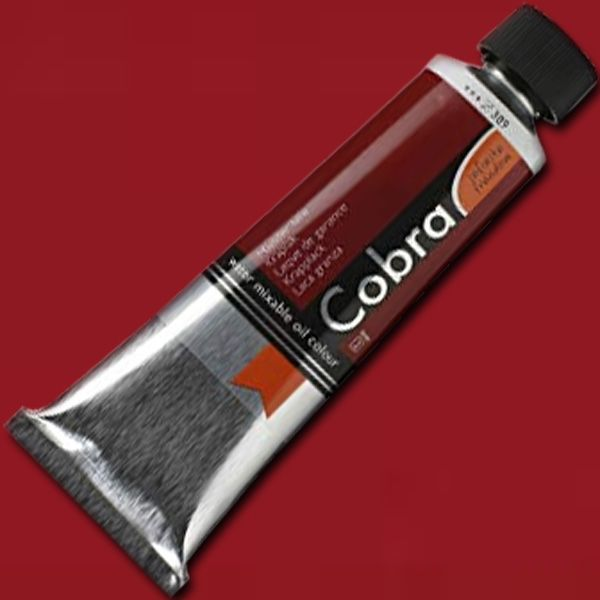 Royal Talens 21053890 Cobra, Water Mixable Oil Color 40ml Madder Lake; Gives typical oil paint results, such as sharp brush strokes and wonderfully deep colors; Offers a particularly rich range of colors with a high degree of pigmentation and fineness; Easily mixed with water and works without the use of solvents; EAN 8712079312343 (ROYALTALENS21053890 ROYAL TALENS 21053890 ALVIN 40ML MADDER LAKE)