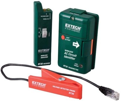 Ac Voltage Wire Identifier Tool : Extech rt wireless ac circuit identifier mhz with