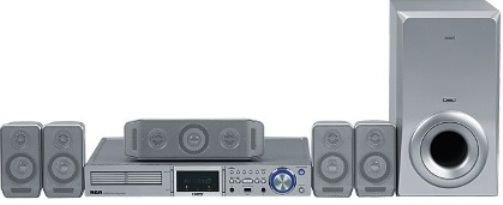 RCA RTD258 Home Theater 5-Disc DVD/CD System with HD Multimedia ...