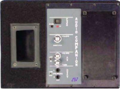 Amplivox S1204 70 Wireless Powered Dual Speaker With 900 MHz Transmitter Exclusive Built In AmpliVox 50 Watt Amplifier