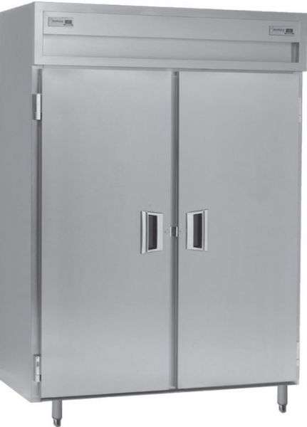Delfield SADRP2-S Solid Door Dual Temperature Reach In Pass-Through Refrigerator / Freezer, 15 Amps, 60 Hertz, 1 Phase, 115 Volts, Doors Access, 49.92 cu. ft. Capacity, 24.96 cu. ft. Capacity - Freezer, 24.96 cu. ft. Capacity - Refrigerator, Top Mounted Compressor Location, Stainless Steel and Aluminum Construction, Swing Door Style, Solid Door, 1/2 HP Horsepower - Freezer, 1/4 HP Horsepower - Refrigerator, UPC 400010728602 (SADRP2-S SADRP2-S SADRP2-S)