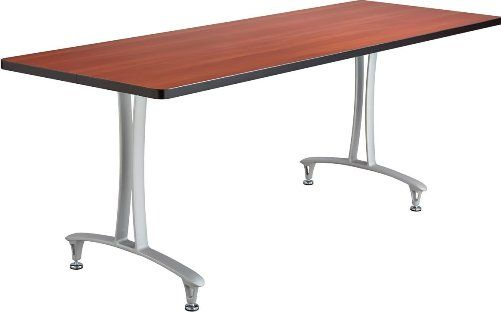Safco 2095CYSL Rumba T-Leg Table, Cast aluminum T-Leg base, Rectangle, 60 x 24