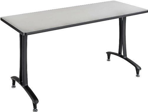 Safco 2095GRBL Rumba T-Leg Table, Cast aluminum T-Leg base, Rectangle, 60 x 24