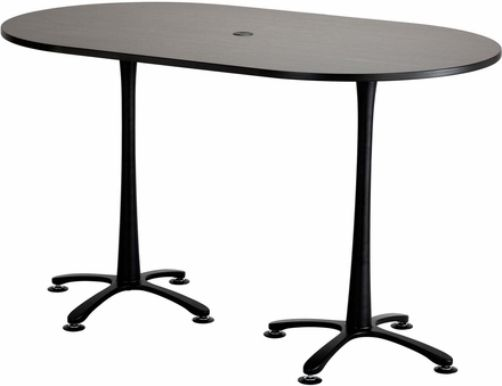 Safco 2552DWBL Cha-Cha Bistro-Height Teaming Table, All tops have 1