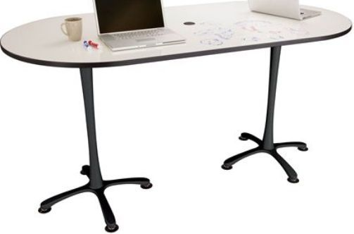 Safco 2590DEBL Cha-Cha Bistro-Height Table, Dry-Erase Top, Black Base, 36