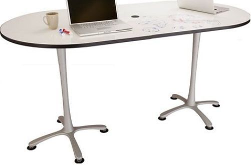 Safco 2590DESL Cha-Cha Bistro-Height Table, Dry-Erase Top, Silver Base, 36