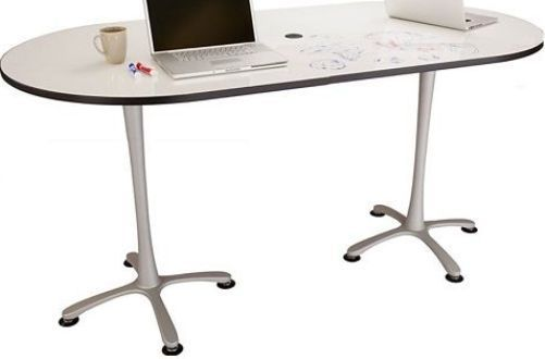 Safco 2593DESL Cha-Cha Bistro-Height Table, Dry-Erase Top, Silver Base, 42