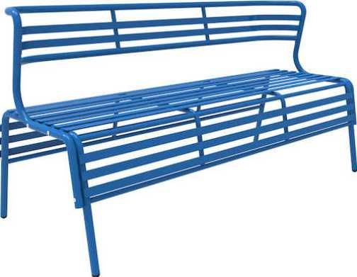 Safco 4368BU CoGo Indoor/Outdoor Steel Bench, Designed for indoors or outdoors for versatile use, 30.75