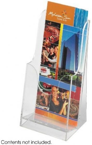 Safco 5637CL Acrylic Single Pocket Pamphlet Display, Acrylic construction, Clear plastic pockets, Each pocket holds up to 2